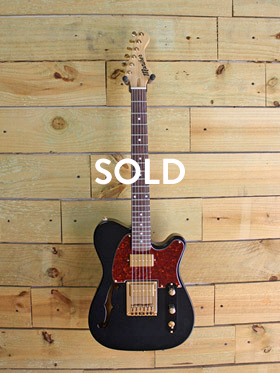 Black and Tortoise Dixie Semi-hollow -SOLD